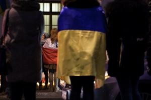 Outside the Ukrainian Council in Kraków, February 19th, 2014