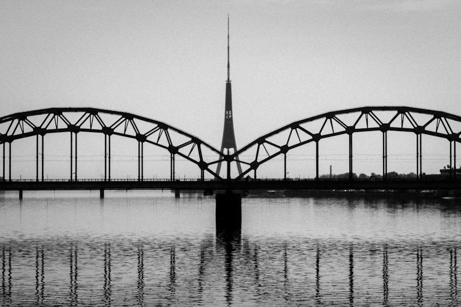 Railway bridge and TV tower